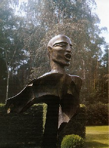 Voice of one crying in the wilderness - 1991, maple, stainless,190 cm